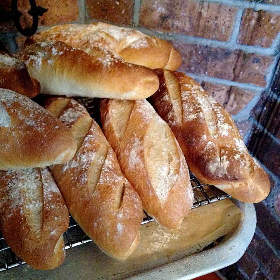 Freshly made crusty bread