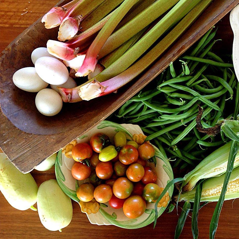 Seasonal, local vegetables